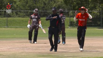 ICC U19 CWC: UAE v CAN – Sharafu's unbeaten 65 takes UAE to 174