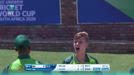 ICC U19 CWC: SA v WI – Highlights of West Indies' four-wicket win
