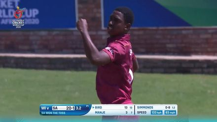 ICC U19 CWC: SA v WI – Simmonds induces the edge off Bird for the breakthrough