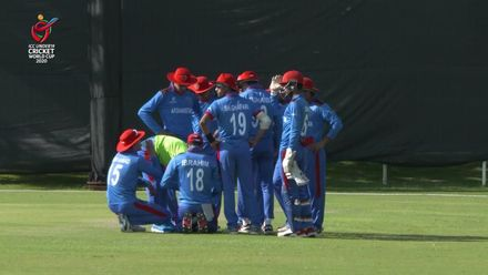 ICC U19 CWC: AUS v AFG – Fanning out sweeping for 62