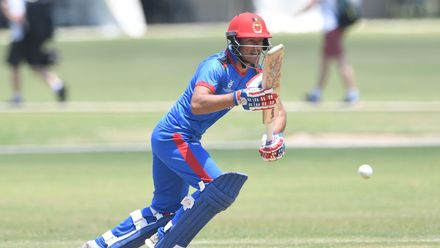 Abdul Rahman of Afghanistan during the ICC U19 Cricket World Cup Super League Play-Off Semi-Final match between Australia and Afghanistan at Absa Puk Oval on February 2, 2020 in Potchefstroom, South Africa.