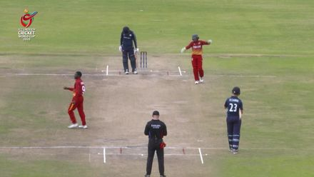 ICC U19 CWC: SCO v ZIM – Highlights of Priviledge Chesa's 5/49