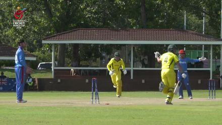 ICC U19 CWC: AUS v AFG – Sam Fanning reaches his 50 courtesy of four overthrows