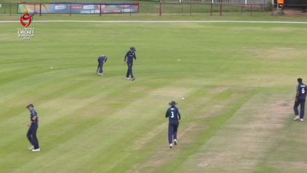 ICC U19 CWC: SCO v ZIM: Jamie Cairns takes good diving catch to dismiss Madhevere