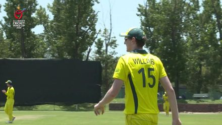 ICC U19 CWC: AUS v AFG  – Sangha takes his fourth wicket of the day