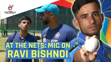 ICC U19 CWC: At the nets with India's Ravi Bishnoi