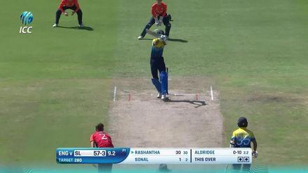 ICC U19 CWC: SL v ENG –Highlights of Ravindu Rashantha's 66