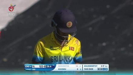 ICC U19 CWC: SL v ENG – Highlights of Lewis Goldsworthy's 5/21