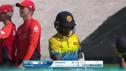 ICC U19 CWC: SL v ENG – Currie foxes Sudeera with a slower one