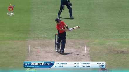ICC U19 CWC: SL v ENG – Highlights of Joey Evison's 59