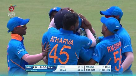 Nissan POTD: Saxena takes a blinder to dismiss Haris