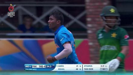 ICC U19 CWC: IND v PAK – All the wickets to fall