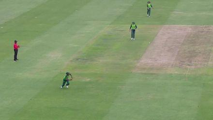 ICC U19 CWC: SA v AFG –Rahmanullah falls in bizarre fashion