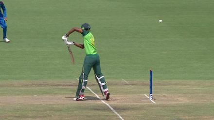 ICC U19 CWC: SA v AFG – Louw caught in the gully off Rahman