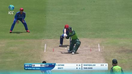 ICC U19 CWC: SA v AFG – Highlights of Shafiqullah's 4/15
