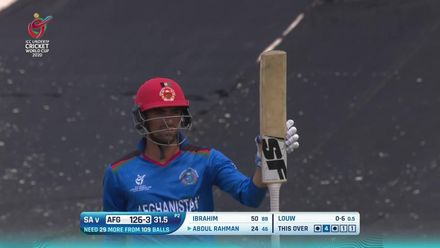 ICC U19 CWC: SA v AFG – Highlights of Ibrahim Zadran's 73*