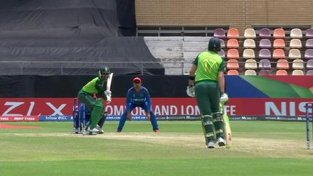 ICC U19 CWC: SA v AFG – Karelse unfortunate to be dismissed by Shafiqullah