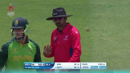 ICC U19 CWC: SA v AFG – The 10 South Africa wickets to fall