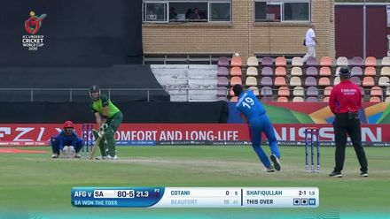 ICC U19 CWC: SA v AFG – Beaufort comprehensively bowled by Shafiqullah
