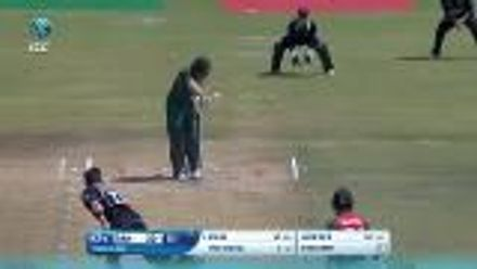 ICC U19 CWC: NZ v BAN – Parvez Hossain attempts a leave, gloves it to the keeper