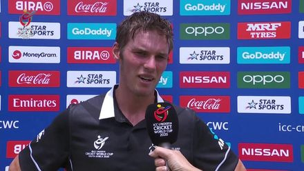 ICC U19 CWC: NZ v BAN – Flash interview with Wheeler-Greenall