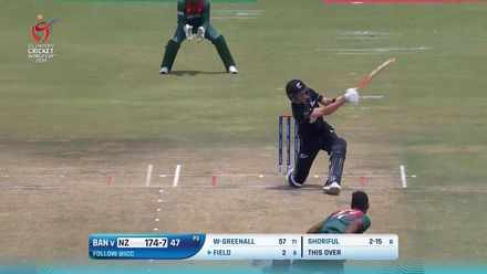 Nissan POTD: Beckham Wheeler-Greenall clubs a slow ball over deep mid-wicket