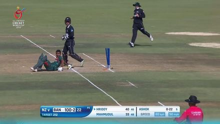 ICC U19 CWC: NZ v BAN – Lightining-quick stumping sends back Hridoy