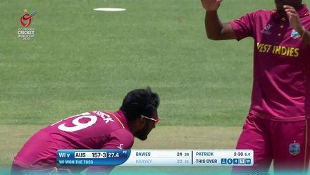 ICC U19 CWC: WI v AUS - Matthew Patrick bowling highlights
