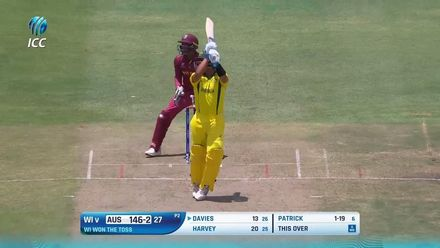 ICC U19 CWC: WI v AUS – Davies go inside out for a grand six