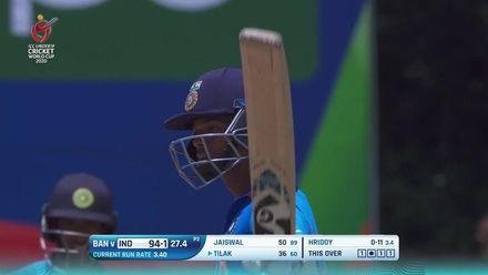 ICC U19 CWC: IND v BAN – Highlights of Yashasvi Jaiswal's half-century