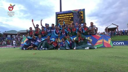 ICC U19 CWC: IND v BAN – The winning trophy celebration