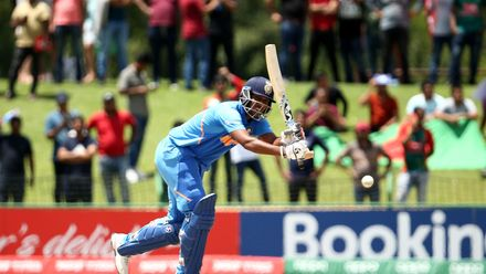 Atharva Ankolekar of India bats during the ICC U19 Cricket World Cup Super League Final match between India and Bangladesh at JB Marks Oval on February 09, 2020 in Potchefstroom, South Africa.