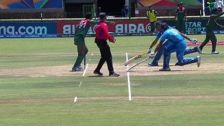 ICC U19 CWC: IND v BAN –Jurel departs after calamitous running sees batsmen at the same end