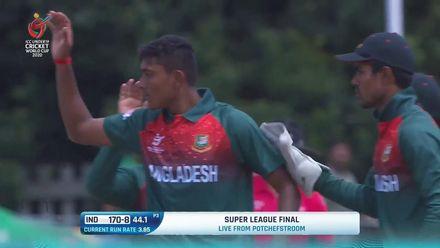 ICC U19 CWC: IND v BAN – Ankolekar chops Avishek onto his stumps