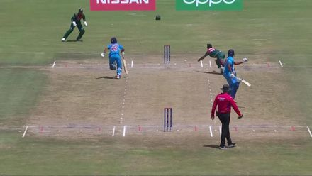 ICC U19 CWC: IND v BAN – Bishnoi is run out attempting a quick single