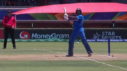 ICC U19 CWC: IND v BAN – Tilak Varma slashes and is caught at deep point