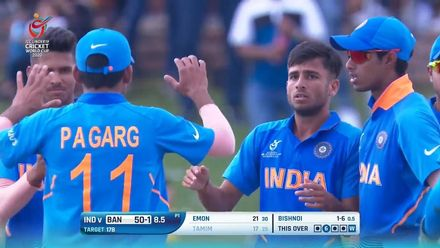ICC U19 CWC: IND v BAN – Highlights of Ravi Bishnoi's excellent 4/30