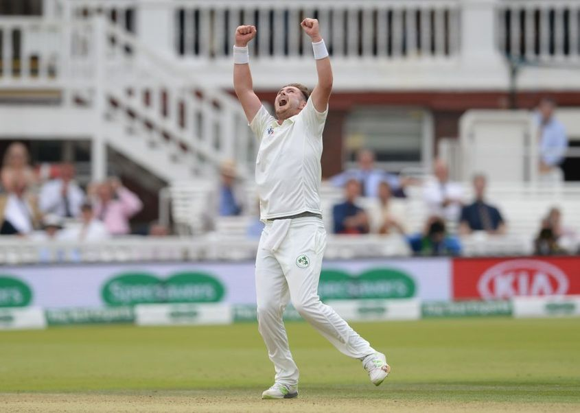 Adair took six wickets in Ireland's Test against England in 2019, but will miss the Afghanistan series through injury