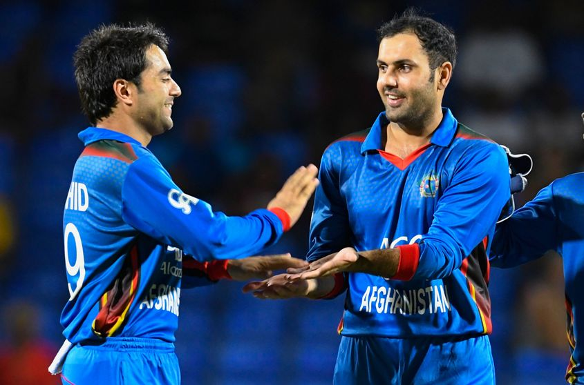 Rashid Khan (left) and Mohammad Nabi currently occupy the top position among bowlers and all-rounders respectively in the MRF Tyres ICC T20I Rankings