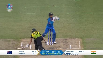WT20WC: Aus v Ind – Lanning falls early