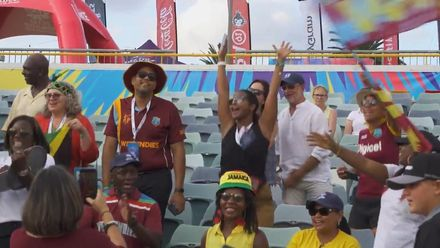 WT20WC: WI v Tha – West Indies celebrate with their fans