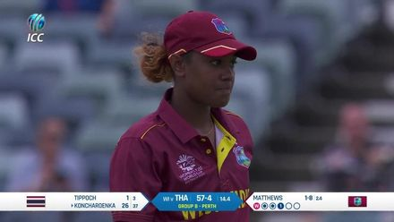 WT20WC: WI v Tha - Thailand innings highlights