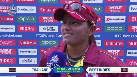 WT20WC: WI v Tha - Anisa Mohammed end of innings interview