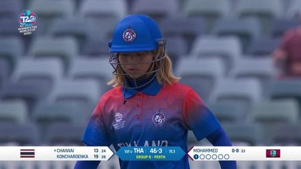 WT20WC: WI v Tha - Anisa Mohammed takes her first wicket of the day