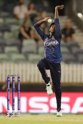 Kavisha Dilhari of Sri Lanka bowls during the ICC Women's T20 Cricket World Cup match between New Zealand and Sri Lanka at WACA on February 22, 2020 in Perth, Australia.