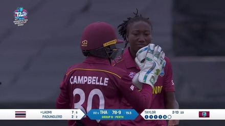 WT20WC: WI v Tha - Stafanie Taylor bowling highlights