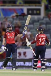 Natalie Sciver of England, during the ICC Women's T20 Cricket World Cup match between England and South Africa at WACA on February 23, 2020 in Perth, Australia.