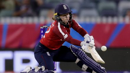 Tamsin Beaumont of England bats. during the ICC Women's T20 Cricket World Cup match between England and South Africa at WACA on February 23, 2020 in Perth, Australia.