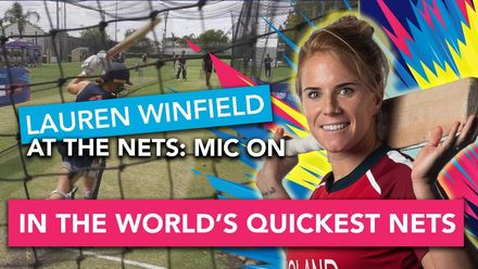 WT20WC: At the Nets - Lauren Winfield gets mic'd up