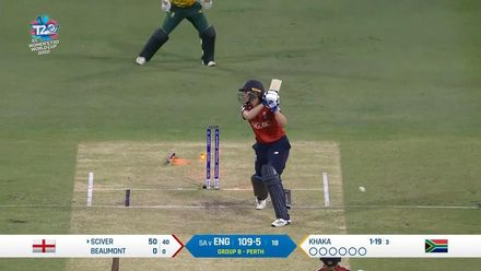 WT20WC: Eng v SA – Natalie Sciver falls after scoring a gritty fifty